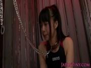 超かわいい女の子に首輪をつけて性奴隷エロ調教を施す