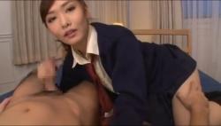 淫乱美乳制服美女のお姉さんがベロキスから乳首舐めしてうっとりした表情で濃厚ねっとりフェラする主観動画がたまらねぇ!