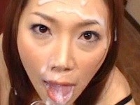 《小川あさ美》おっさんの精液を顔面で浴び続ける美女