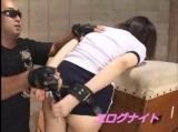 ブルマ体操着コスの早川凛が首輪拘束されて無理矢理ハられる!!