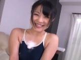 吉村杏菜 客のチンコを弄んで騎乗位挿入するスク水洗体女子校生
