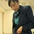 ヤリマン女CAのタイツ着衣の顔面セックス★おま◯こグリグリされるキチガイ男★由愛可奈 ...