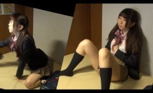 つい一緒にお供したくなるネカフェでオナるJKの二画面対比映像!!!