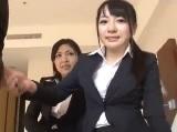 OLの無料H動画。初々しさの残る新人OLのセックス