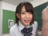 麻里梨夏 生チンコをシコシコしながらディルオナニーする変態女子校生