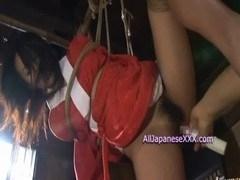美女のお漏らし無料H動画。和服美女がBD奴隷され玩具責めでビショビショお漏らし愛液