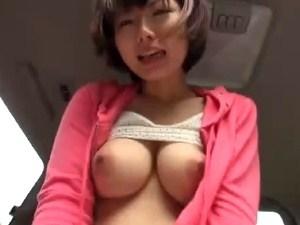 ラブラブなカーえっち★ショートスイ乳美ガールと主観えっち★