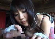 可愛いチェックのランジェリーでハメ撮りする黒髪の美少女
