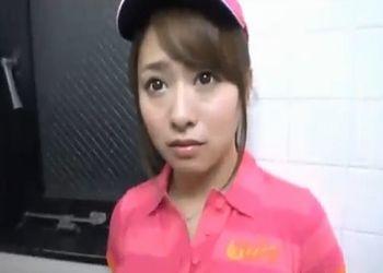 白石茉莉奈をゴルフ練習場にストーキングしてトイレに連れ込みバックハメ!