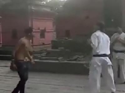 【衝撃】街の喧嘩自慢 vs. 空手の黒帯がガチ喧嘩した結果wwwwww