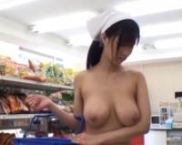 全裸で買い物に来る巨乳家政婦さんがエロすぎたので店内でハメたったwww