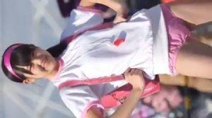 萌え萌えの衣装がチャーミング美幼女コスプレイヤーイヤーの取材会風景