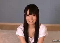 坂口みほの 経験人数1人だけ!黒髪美少女の初々しいデビューフェラ